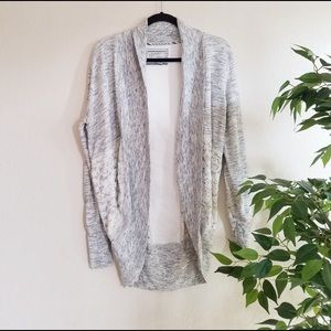 Anthropologie Saturday Lace Open Front Cardigan